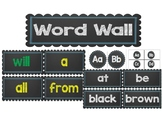 Word Wall ~~ 4 Editable Lists ~~ Chalkboard and Blue ~~ Dolch, Fry, & CKLA