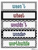 Word Wall - 4th Grade High Frequency Words: Black and Whit