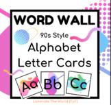 Word Wall Alphabet Cards *90s Retro Design*
