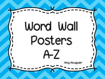 Chevron Word Wall A-Z Posters