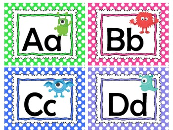 Word Wall ABC cards- Monsters!