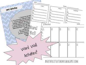 Word Wall Activities