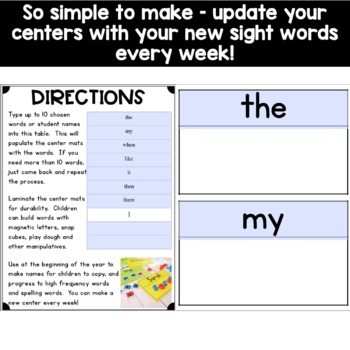 Word Wall Activities - Editable