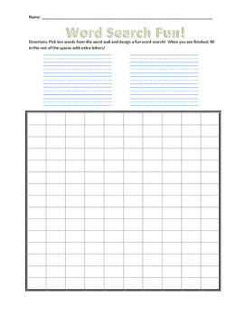 Word Wall Activities Packet