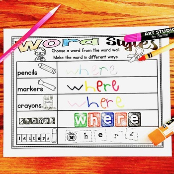 Word Wall Activities and Centers and Scrambled Word Activities - BUNDLE!