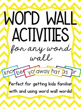 Word Wall Activities for ANY Word Wall