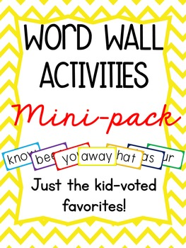Word Wall Activities for ANY Word Wall MINI-PACK