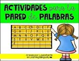 Word Wall Activities in Spanish
