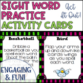 Sight Word Practice Interactive Act It Out Cards
