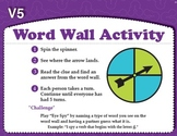 Word Wall Activity with Spinner