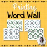 Printing Word Wall Alphabet