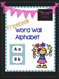 Word Wall Alphabet