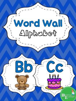 Word Wall Alphabet - Blue