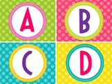 Word Wall Alphabet-Bright Polka Dots