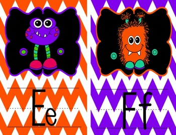 Monster Alphabet and Number Posters