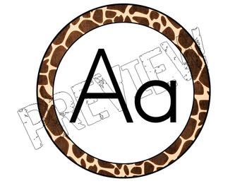 Alphabet Posters for the Classroom Zoo Animal Theme