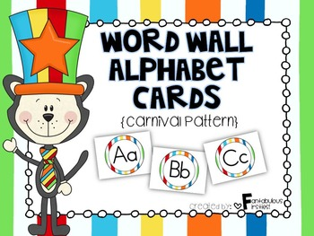 Alphabet Posters for the Classroom Carnival Circus Theme