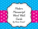 Word Wall Alphabet Circles - D'Nealian / Modern Manuscript Font