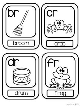 Word Wall Alphabet Cards-Letters, Blends,  Digraphs