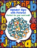 Word Wall Alphabet Cards with Pictures