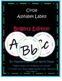 Word Wall Alphabet Circle Labels - Brights Edition