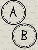 Word Wall Alphabet Circles