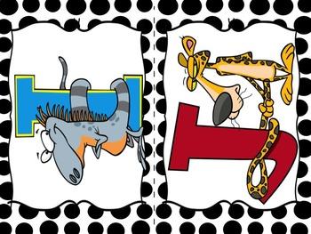 Word Wall Alphabet: Crazy Animal Cartoons!