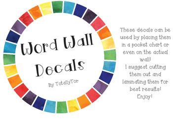 Word Wall/Alphabet Decals