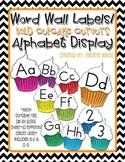 Word Wall-Alphabet Display: Cupcake Cutouts