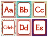 Word Wall Alphabet Letters - English/Spanish