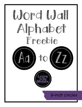 Word Wall Alphabet Freebie