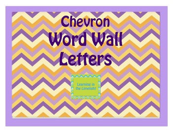 Word Wall Alphabet Header Banner- Royal Chevron