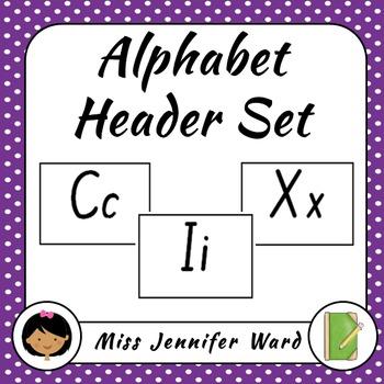 Alphabet Header Set