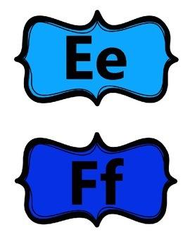 Word Wall Alphabet Header Cards