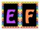 Word Wall Alphabet Headers-Black & Bright Chevron