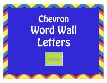 Word Wall Alphabet Headers- Chevron Primary Colors