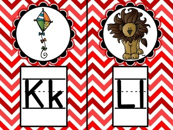 Word Wall Alphabet Headers - Chevron Style