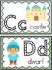 Word Wall Alphabet Headers: Fairy Tale Theme
