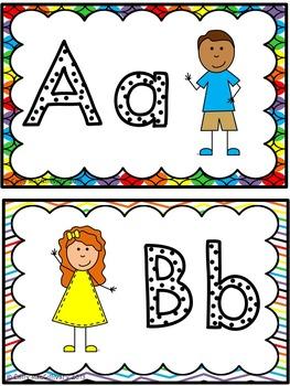 Word Wall Alphabet Headers: Kid Theme