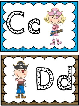 Word Wall Alphabet Headers: Pirate Theme