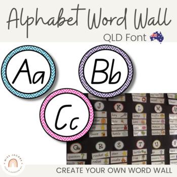 QLD Beginners Font Word Wall Alphabet Headers