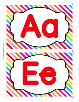 Word Wall Alphabet Headers {Rainbow}