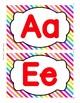 Word Wall Alphabet Headers {Rainbow}