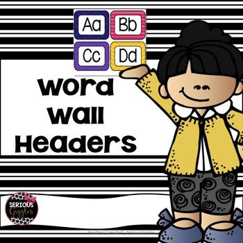 Word Wall Alphabet Headers - Rainbow design
