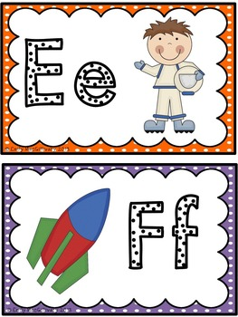 Word Wall Alphabet Headers: Space Theme