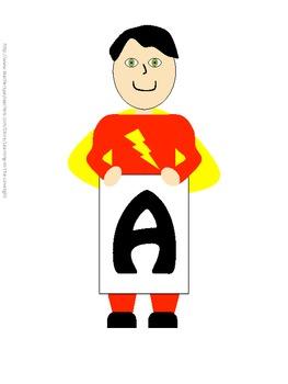 Word Wall Alphabet Headers- Superheroes