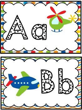Word Wall Alphabet Headers: Transportation Theme