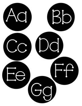 Word Wall Alphabet Heading Letters