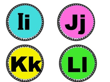 Word Wall Alphabet Heading Letters English & Spanish