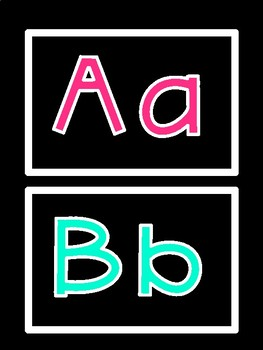 Word Wall Alphabet Letter Headers (Black and Colorful Series)